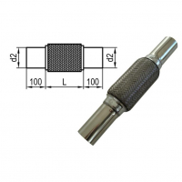 [Flexibilná rúrka s vnútorným výpletom d2 = 40mm - Dĺžka: 200mm]