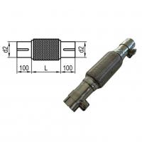 [Flexibilná rúrka s vnútorným výpletom d2 = 55mm - Dĺžka: 100mm]