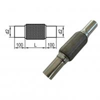 [Flexibilná rúrka s vnútorným výpletom d2 = 76mm - Dĺžka: 100mm]