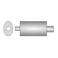 [Univerzálny športový výfuk ULTER z ocele so špeciálnou hliníkovou úpravou NM-130]