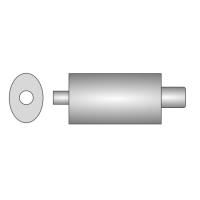 [Univerzálny športový výfuk ULTER z ocele so špeciálnou hliníkovou úpravou NM-142]