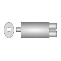 [Univerzálny športový výfuk ULTER z ocele so špeciálnou hliníkovou úpravou NM-230]