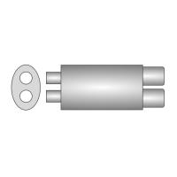 [Univerzálny športový výfuk ULTER z ocele so špeciálnou hliníkovou úpravou NM-253]