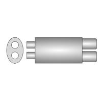 [Univerzálny športový výfuk ULTER z ocele so špeciálnou hliníkovou úpravou NM-255]