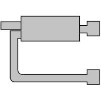 [Univerzálny športový výfuk ULTER z ocele so špeciálnou hliníkovou úpravou NM-342]