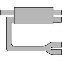 [Univerzálny športový výfuk ULTER z ocele so špeciálnou hliníkovou úpravou NM-442]