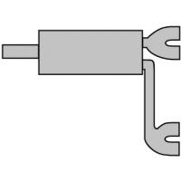 [Univerzálny športový výfuk ULTER z ocele so špeciálnou hliníkovou úpravou NM-444]