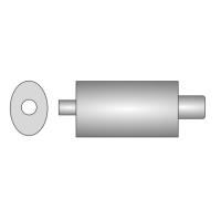 [Univerzálny športový výfuk ULTER z nehŕdzavejúcej ocele NRS130]