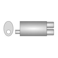 [Univerzálny športový výfuk ULTER z nehŕdzavejúcej ocele NRS241]