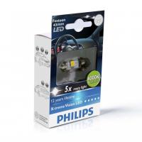 [Autožiarovky PHILIPS Festoon X-tremeVision LED T10, 5x43 4000 K]