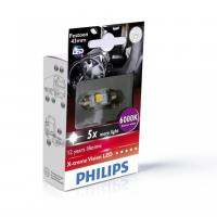 [Autožiarovky PHILIPS C5W - Sulfid X-tremeVision LED T10, 5x43 6000 K - 24V]