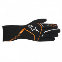 [Detské Rukavice Alpinestars TECH 1-K RACE S - BLACK ORANGE FLUO]