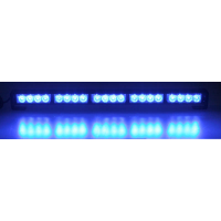 [LED Svetelná Rampa 580mm, 20x LED 3W, Modrá ECE R10 R65]
