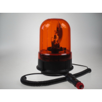 [Halogén maják, 12-24V, oranžový magnet, ECE R65]