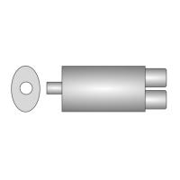 [Univerzálny športový výfuk ULTER z ocele so špeciálnou hliníkovou úpravou NM-242]