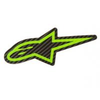 [Samolepka 9 cm zelená CARBON Alpinestars 1033-97074 1060]