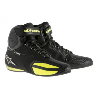 [Alpinestars Faster Waterproof Shoes Black-Yellow Fluo]