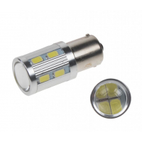 [LED BA15s biela, 12-24V, 16LED / 5730SMD]