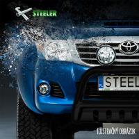 [Nerezové bočné rámy STEELER s plechovými stupňami VW TIGUAN Black [2007-2011--->] ]