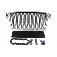 [GRILL AUDI A4 B8 RS-STYLE SILVER-BLACK (08-12)]