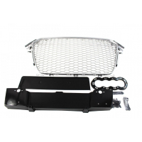 [GRILL AUDI A4 B8 RS-STYLE SILVER-BLACK (12-15)]