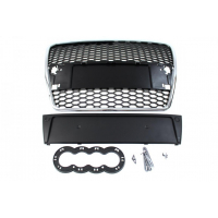 [GRILL AUDI A6 C6 RS-STYLE CHROME-BLACK (04-09)]