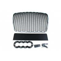 [GRILL AUDI A6 C6 RS-STYLE CHROME-BLACK (09-11)]