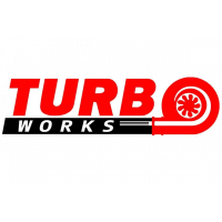 [Naklejka TurboWorks Czerwono-Czarna]