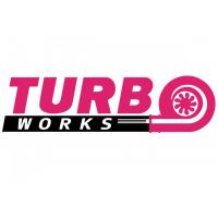 [Naklejka TurboWorks Fioletowo-Czarna]