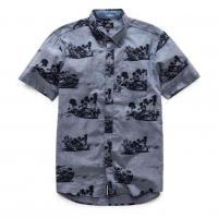 [Pánska modrá košeľa Paradise SS SHIRT Alpinestars 1017-32001 72 VÝPREDAJ]