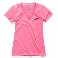 [Dámske ružové tričko AGELESS Vneck TEE Alpinestars krátke 1W38-73000 310]