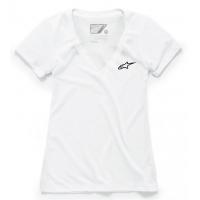 [Dámske biele tričko AGELESS Vneck TEE Alpinestars krátke 1W38-73000 20]