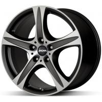 [RONAL R55 SUV MB/FC - MATT BLACK-FRONT DIAMOND CUT]