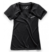 [Dámske čierne tričko Ageless Vneck TEE Alpinestars krátke 1038-73000 10]