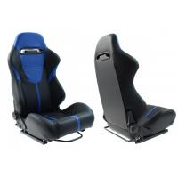 [Fotel sportowy R-LOOK II Skóra Black Blue]