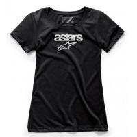 [Dámske čierne tričko HERITAGE BLAZE TEE Alpinestars krátke 1W38-73004 10 1038-73004 10]