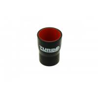 """[Silikónová Redukčná spojka TurboWorks Pro Black - 70 na 89mm (2,75"""") na (3,5"""")]"""