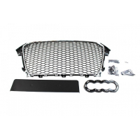 [GRILL AUDI A4 B8 RS-STYLE CHROME-BLACK (12-15) PDC]
