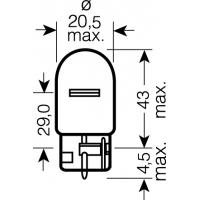 [OSRAM 12V W21W (W3x16d) 21W standard (1ks)]