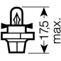 [OSRAM 12V BX8,4d 2W štandard (10ks)]