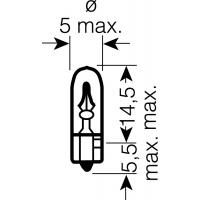 [OSRAM 12V W2x4.6d 2W štandard (10ks)]