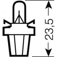 [OSRAM 12V B8,5d 2W štandard (10ks)]
