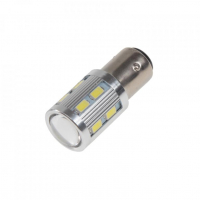 [LED BAZ15D bílá, 12SMD Samsung + 3W Osram 10-30V]
