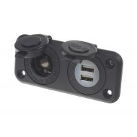 [Dvojitá zásuvka do panelu 1x CL + 2x nabíjačka USB vodeodolná]