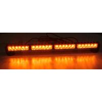 [LED světelná alej, 24x 1W LED, oranžová 645mm, ECE R10]