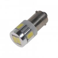 [LED BA9s bílá, 12V, 6LED/5630SMD sada 2ks]