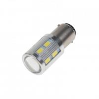 [LED BA15d (jednovlákno) bílá, 12-24V, 16LED/5730SMD]