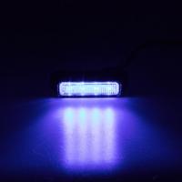 [PREDATOR 4x3W LED, 12-24V, modrý, ECE R10 R65]