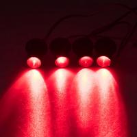 [LED stroboskop červený 4ks 1W]