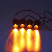 [LED stroboskop oranžový 4ks 1W]